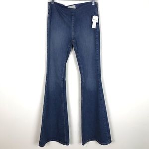 Free People Penny Pull On Flare Jeans Sz 28
